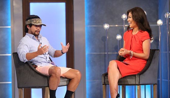 James Huling talks with Julie Chen after his eviction