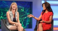Meg Maley talks with Julie Chen after eviction