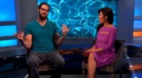 Austin Matelson talks with Julie Chen outside BB17