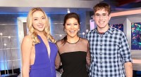 Liz Nolan with Julie Chen and Steve Moses at BB17 finale
