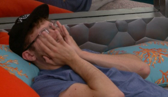Steve Moses stresses the vote on Big Brother 17