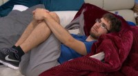 Steve Moses curls up with worry on Big Brother 17