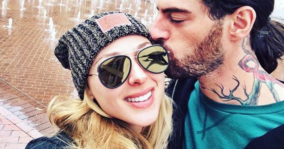 Liz Nolan & Austin Matelson share a last kiss