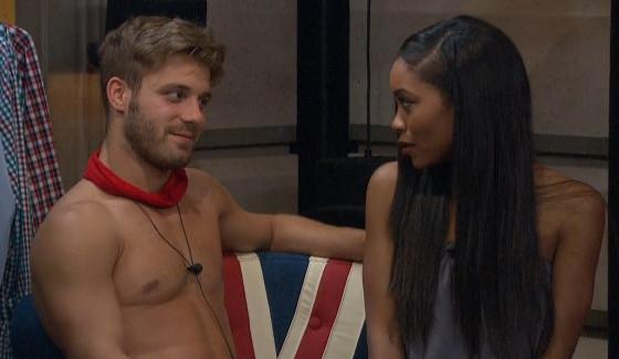 Paulie Calafiore flirts with Zakiyah Everette on BB18