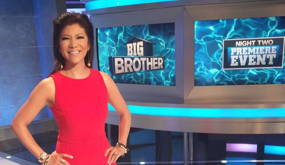 Julie Chen at Big Brother 18 premiere night