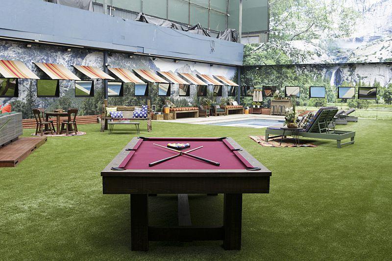 Big Brother 18 backyard and game area