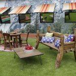 Big Brother 18 backyard sitting area