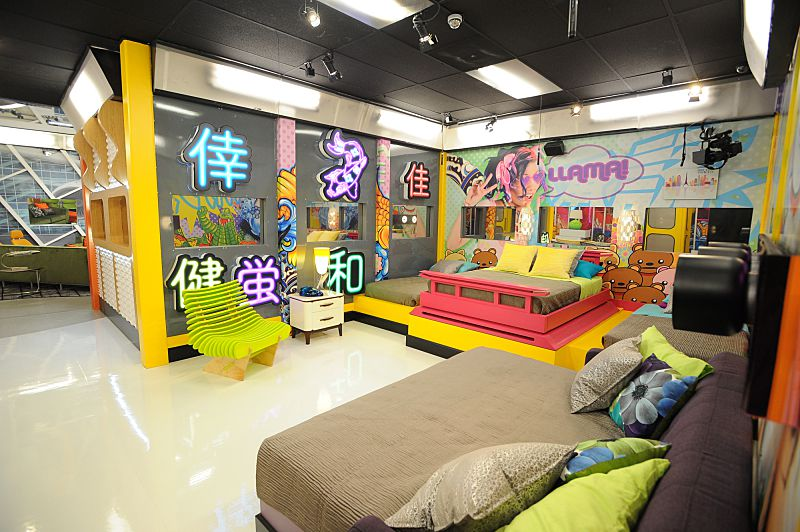 Tokyo Pop themed bedroom on Big Brother 18