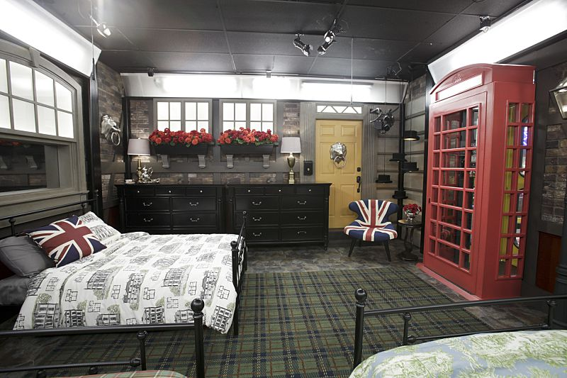 British themed bedroom in Big Brother 18 house