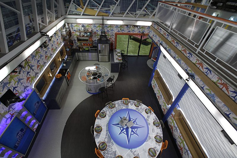 Overhead view of Big Brother 18 kitchen