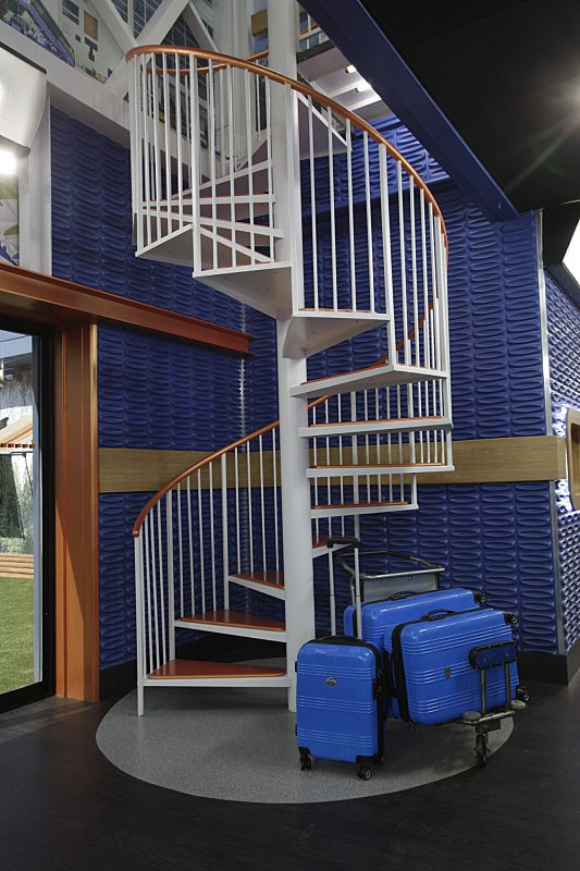 Staircase to upstairs level in Big Brother 18 house
