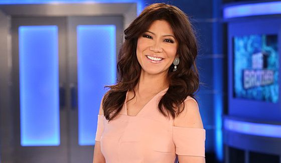 Big Brother host Julie Chen outside the Big Brother house