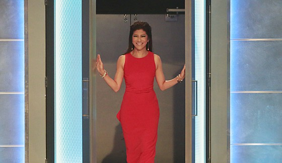 Big Brother 18 host Julie Chen outside the house