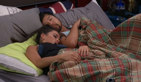Natalie and James nap on Big Brother 18