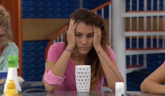 Tiffany Rousso worrying on Big Brother 18