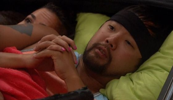 James and Natalie curl up together on BB18