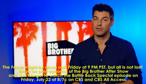 Big Brother 18 Feeds go dark for Battle Back