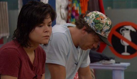 Frank & Bridgette stressing on BB18