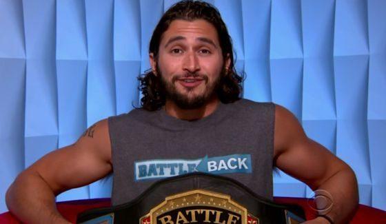 Victor Arroyo holds the Battle Back belt