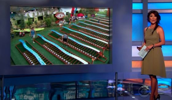 Julie Chen hosts the latest Big Brother HoH comp