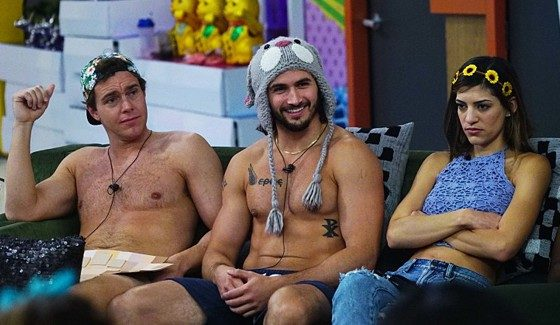 Frank, Victor, and Bronte on Big Brother 18