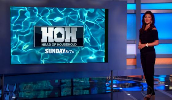 Julie Chen and the BB18 HoH