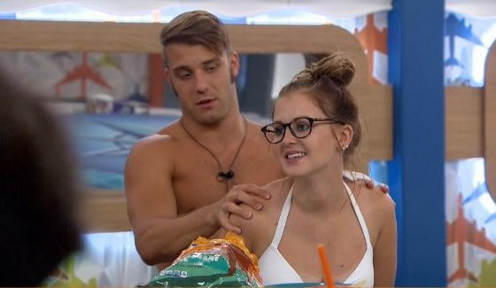 Paulie gives Michelle a push out the front door