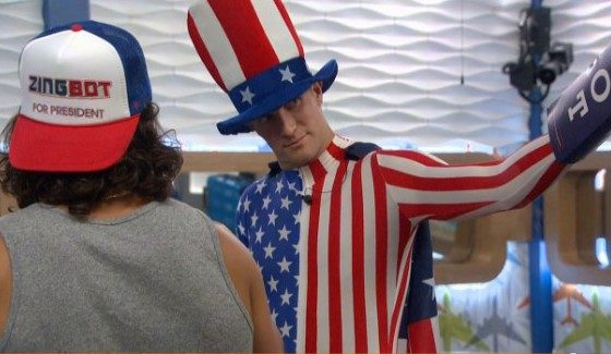 Corey goes patriotic on Big Brother 18
