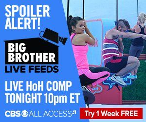 Live Endurance comp on Big Brother 18