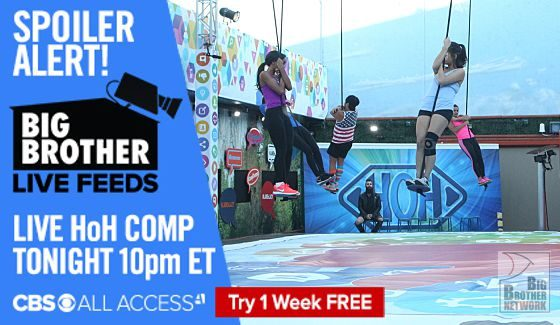 Big Brother 18 Endurance comp on Live Feeds