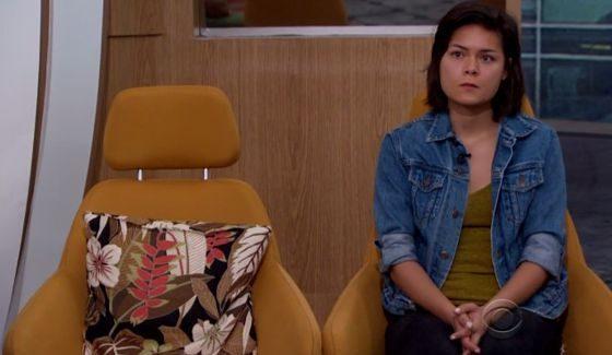 Bridgette sits alone on Big Brother 18