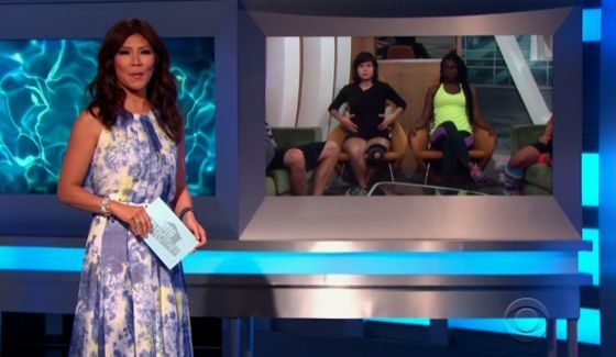 Julie Chen with BB18 nominees