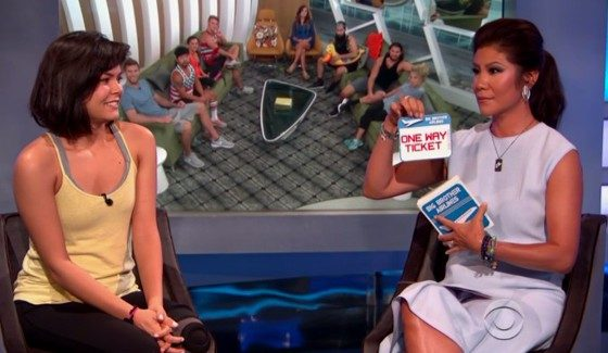 Bridgette Dunning with Julie Chen on Big Brother 18