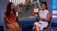Julie Chen with Zakiyah Everette on BB18