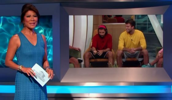 Julie Chen and the Week 9 nominees on BB18