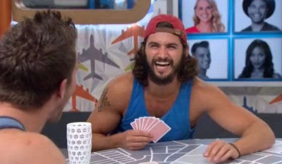 Victor and Corey play cards on BB18