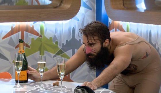Paul studies champagne on BB18
