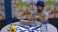 James Huling building a house of cards