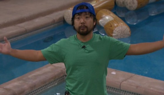 James Huling talks to the camera on BB18