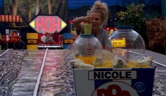 Nicole Franzel on Big Brother 18 HoH comp