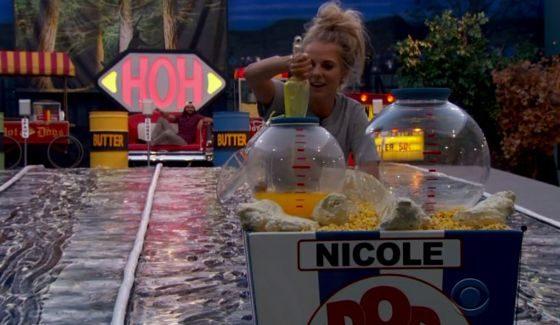 Nicole Franzel on Big Brother 18 HoH comp