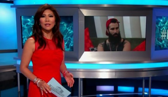 Julie Chen with BB18's Paul