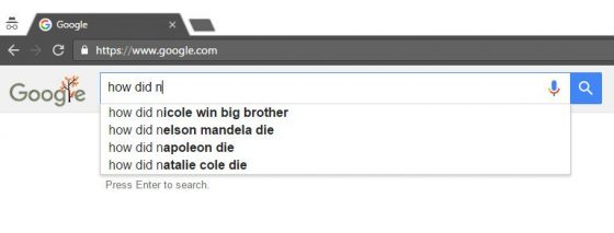 Google search for how did Nicole win