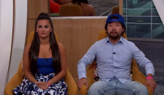 Nominees Natalie and James on BB18