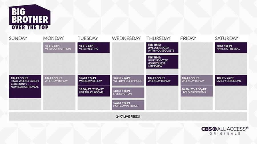 BBOTT Schedule 2016