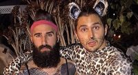 Paul Abrahamian and Victor Arroyo have fun for Halloween