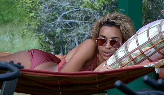 Danielle relaxes in the BBOTT hammock