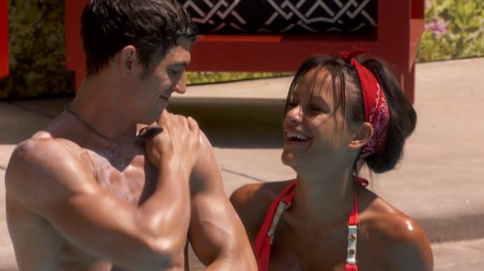 Cody and Jessica at the pool on BB19