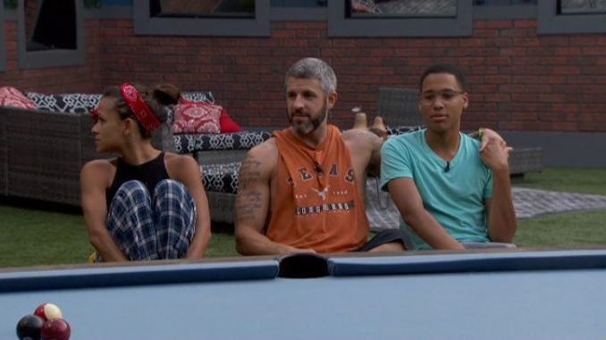 Houseguests together playing pool on BB19