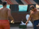 Josh and Mark food fight on BB19